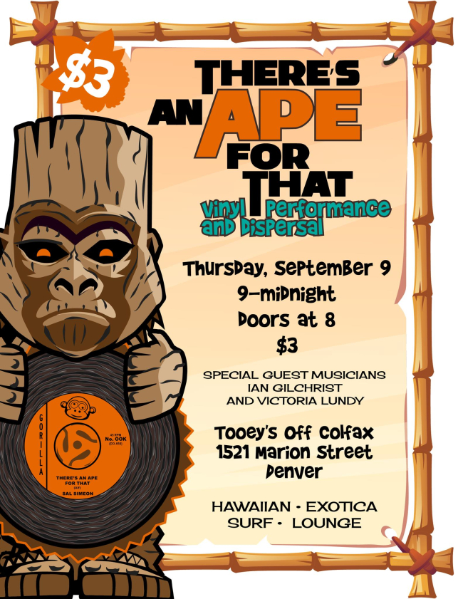 There's an Ape for That: Tiki at Tooey's